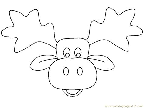 moose head coloring page  mouse coloring pages