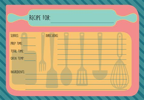 Free Recipe Card Vector   Download Free Vector Art, Stock