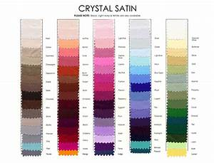 Crystal Satin Color Chart French Novelty