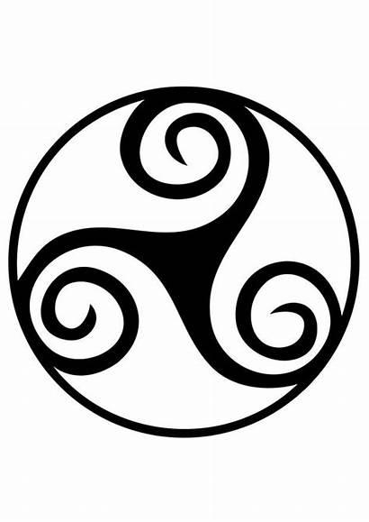 Coloring Spiral Celtic Triskele Symbol Pages Printable