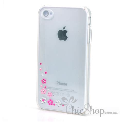 pink iphone 4 iphone 4 4s simply pink silver cover