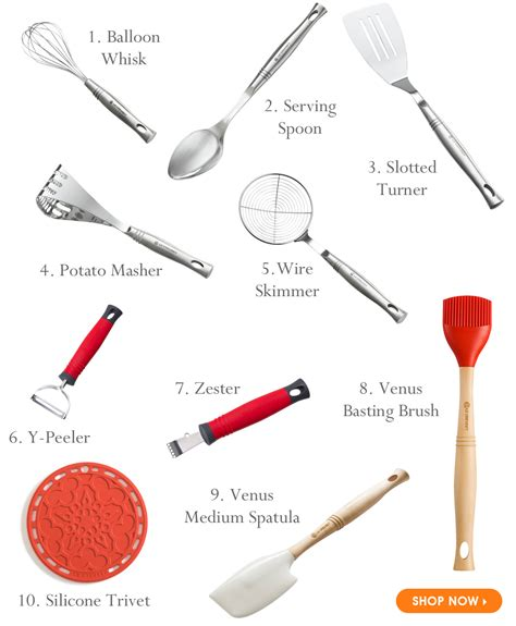 Kitchen Accessories With Names by Le Creuset Small Is Beautiful Our Top 10 Kitchen Utensils