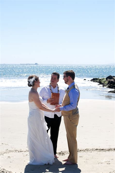 Intimate Seal Beach Wedding Great Officiants