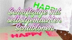 Schablonen Selber Machen Anleitung : eigene schriftz ge formen schablonieren schablonen ~ Lizthompson.info Haus und Dekorationen
