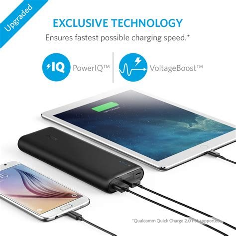 anker powercore 20100mah 2 port portable charger power