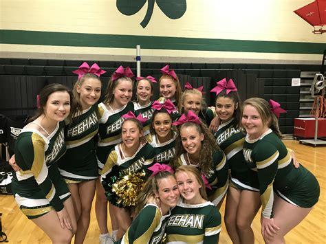 bishop feehan high school girls varsity cheerleading winter