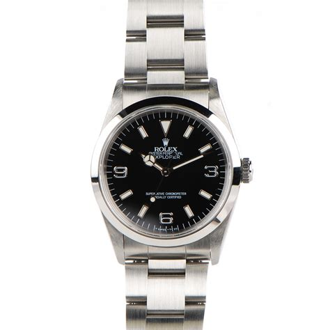 Rolex Explorer 36mm Rolex Stainless Steel 36mm Oyster Perpetual Explorer Watch