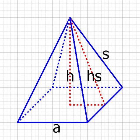 A Berechnen by Satz Des Pythagoras In Einer Pyramide Anwenden Mathelounge