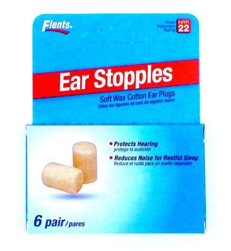 flents ear stopples ear plugs nrr  pack   pairs