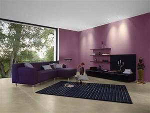 farbgestaltung lila galerie With markise balkon mit tapeten lila farbe wandgestaltung