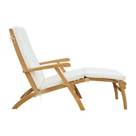 chaise longue en teck massif l 170 cm ol 233 maisons du monde
