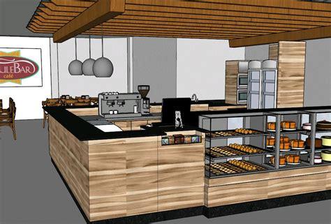 Kitchen Coffee Bar Ideas - bulevar cafe 3d bibliocad