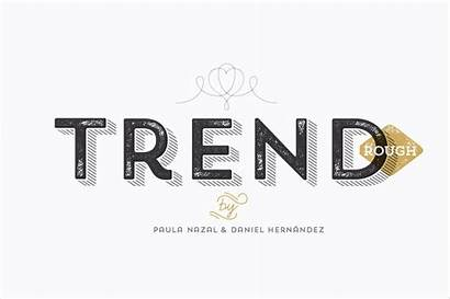 Trend Rough Font Fonts Fashionable Includes Mightydeals
