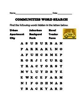 communities word search  nancy fann teachers pay teachers