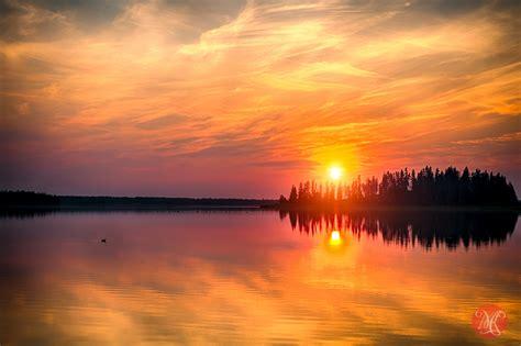 Elk Island Sunset  Landscape Photography — Miksmedia