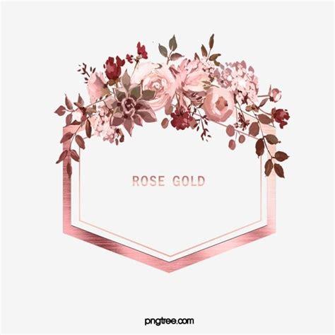 glosshexagonleafwatercolorrose goldflowermetal
