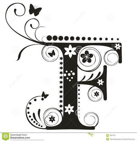 Letra F ilustración del vector. Ilustración de carácter