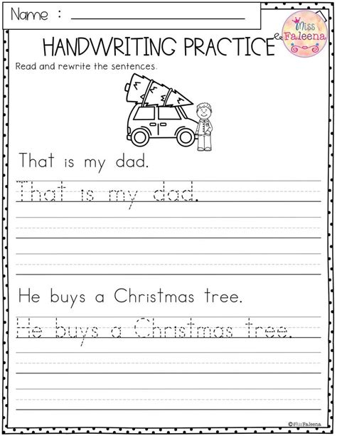 christmas handwriting practice  images handwriting