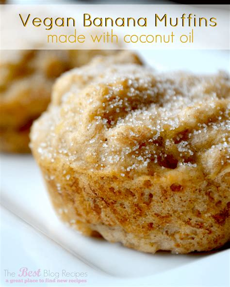 Vegan Banana Muffins Made W/ Coconut Oil
