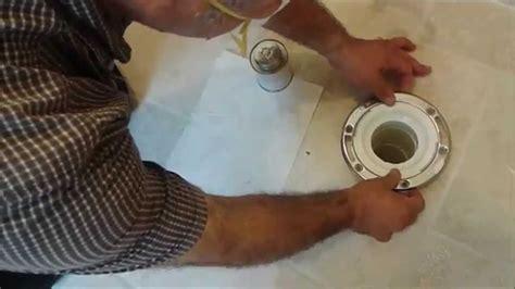 install toilet flange  tile floor  tiling