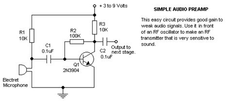 Electret Transistor Mic Preamp Electrical Engineering