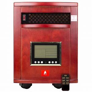 Indoor Quartz Infrared Heater Remote Control 6 Emitters