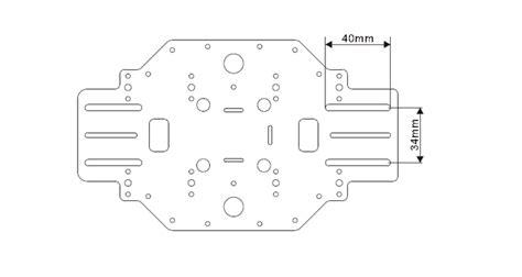 quadcopter frame kit  pcb central plate kingkong