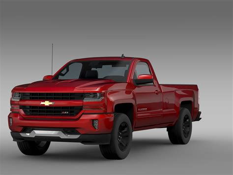 Chevrolet Silverado Lt by Chevrolet Silverado Lt Z71 Regular Cab Gmtk2 3d Model