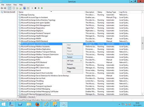 For Service by Exchange 2013 Initial Configuration Settings Enter