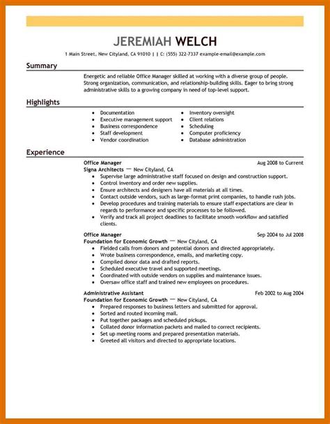 Office Manager Resume Template by 3 4 Microsoft Office Skills Resume Template Formatmemo