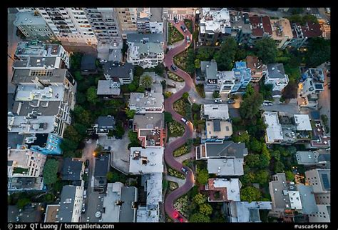 picturephoto aerial view  lombard street twists