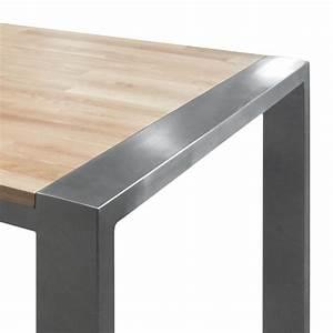Esstisch Holz Edelstahl : massiver baumstamm tisch genesis 220cm eiche massivholz ~ Indierocktalk.com Haus und Dekorationen