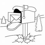 Mailbox Coloring Holiday Printable Coloringpages Version sketch template