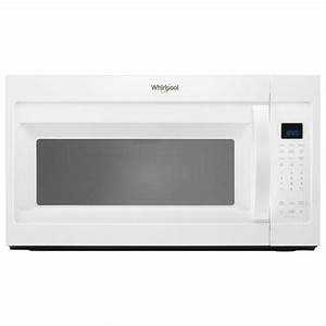 Whirlpool 1 9 Cu  Ft  Over The Range Microwave In White