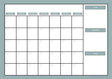 diy monthly planner dry erase calendar printable