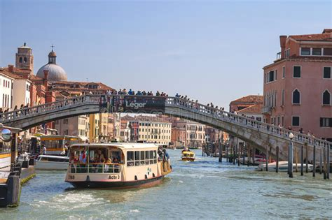 Active Movement On A Canal In Sunny Spring Day,venice