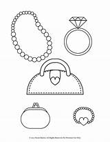 Coloring Pages Bracelet Purse Necklace Printable Pearl Ring Heart Diamond Necklaces Coin Bracelets Stylish Jewelry Jewellery Earrings Enjoy Designlooter Getcolorings sketch template