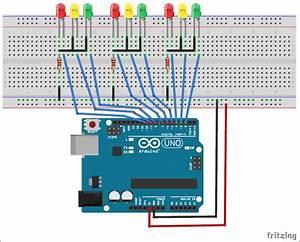 Controlador De Sem U00e1foro De 3 Vias Baseado Em Arduino Em