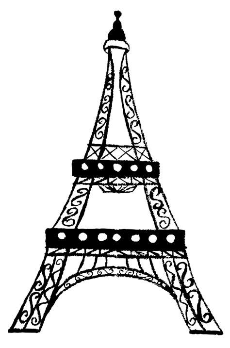 onlinelabels clip art eiffel tower charcoal sketch