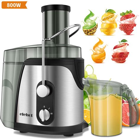 juicer juice extractor vegetable machine watt steel centrifugal fruits mouth elehot wide juicers stainless dual speed kitchen amazon boss sellers