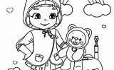 Coloring Ruby Rainbow Cartoon April sketch template