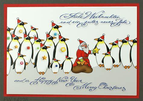 humorvolle weihnachtskarte mit weihnachtsmann und