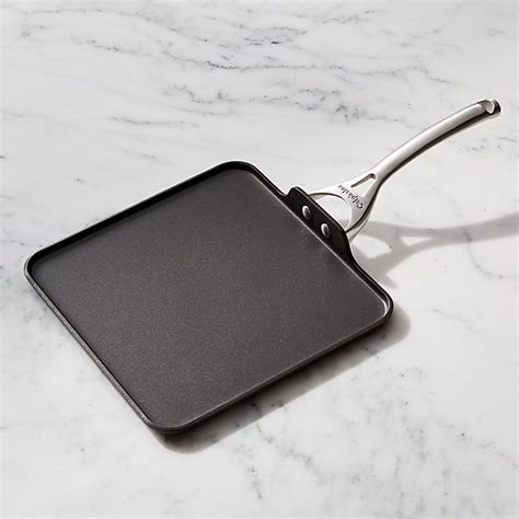 Calphalon Kitchen Essentials Nonstick Square Griddle by Square Nonstick Calphalon Griddle Crate And Barrel