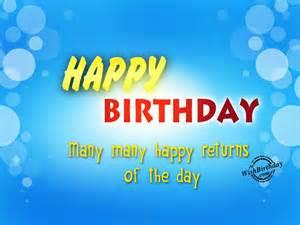 Birthday Many Happy Returns