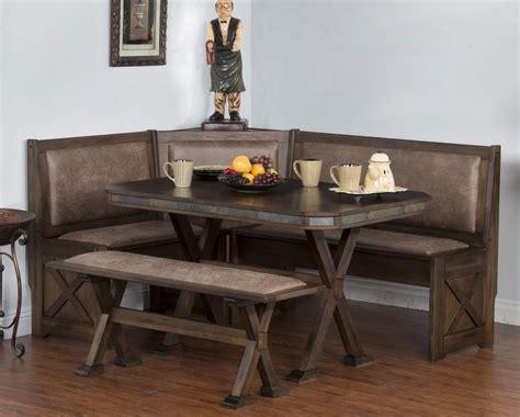 kitchen nook furniture set cabo corner breakfast nook set w upholstered seats for