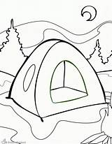 Coloring Camping Pages Printable Sheets Popular sketch template