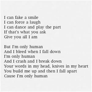 Im Only Human Q... Knife Song Quotes
