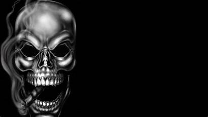 Skull Smoking Smoke Dangerous Wallpapers Skeleton Calaveras