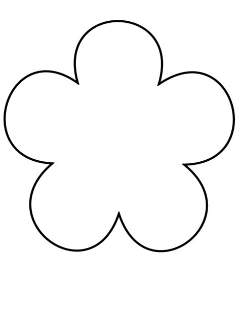 flower template pdf flower template free printable cliparts co