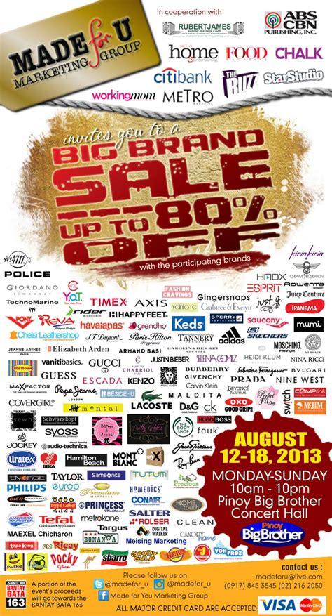 manila shopper big brand sale  pinoy big brother tent